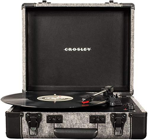 Tocadiscos portátil de maleta Crosley Executive Vintage Bluetooth de 3 velocidades...