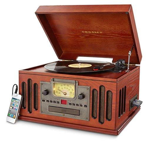 Crosley CR704C-PA Tocadiscos de 3 velocidades con reproductor de CD/Cassette y...